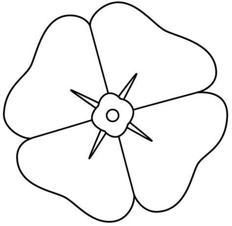 poppy template to colour draw a poppy colouring pages clipart best clipart best