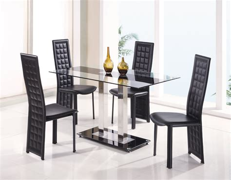 glass dining room table set fascinating dining room sets for modern glass top