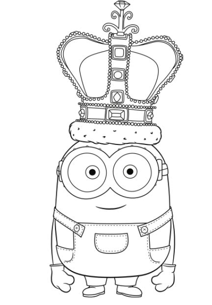 minions coloring pages king bob minions kleurplaat google zoeken lionnen