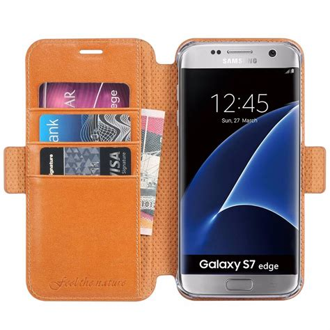 Casing Samsung Galaxy S7 Casing S7 Edge Leather Smartcase shieldon galaxy s7 edge wallet genuine leather