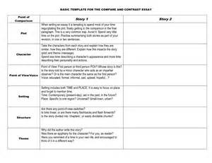 Compare And Contrast Essay Outline by Compare Contrast Essay Outline Exle