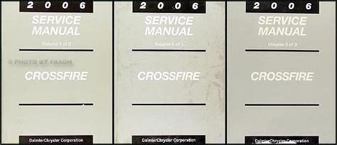 how to download repair manuals 2006 chrysler crossfire roadster engine control 2006 chrysler crossfire repair shop manual set original