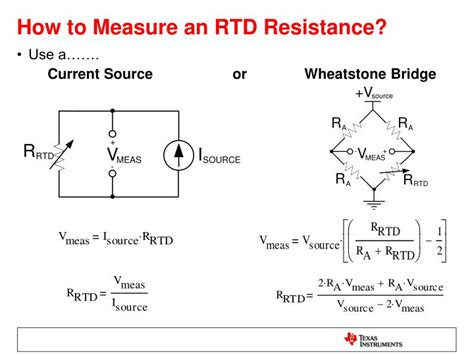 how to measure a resistor ppt signal conditioning and linearization of rtd sensors powerpoint presentation id 4785697