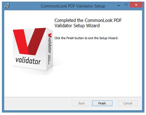 section 508 validator commonlook pdf validator installation document