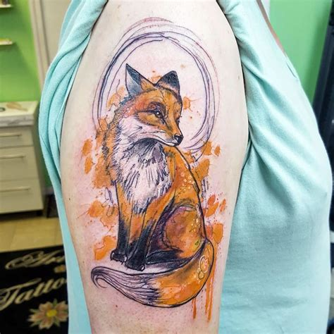 watercolor animal tattoo watercolor animal
