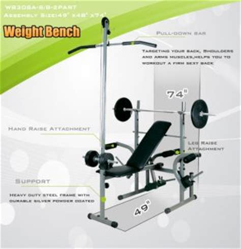 gold s gym pro series weight bench golds gym competitor series weight bench bar and 252 lb