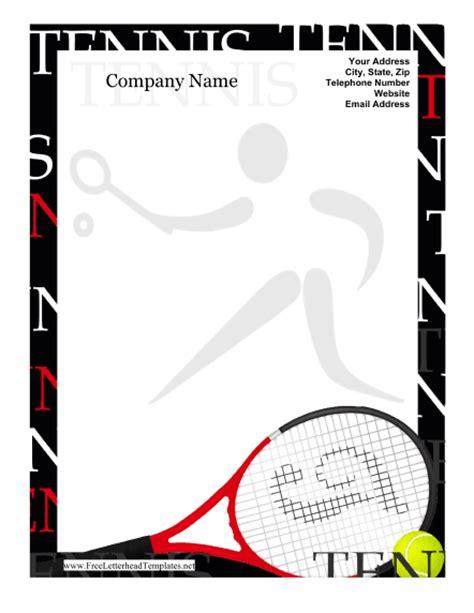 tennis templates free tennis letterhead