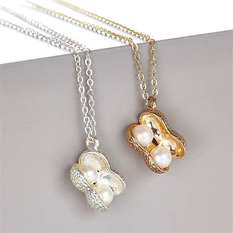 peanut necklace by junk jewels notonthehighstreet