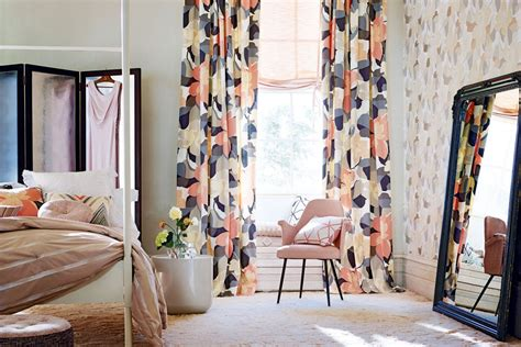 curtains and matching wallpaper decorating with patterned wallpaper real homes