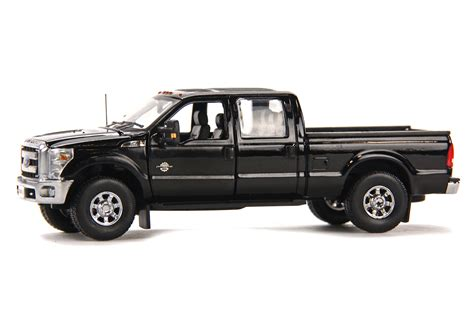 truck bed cab ford f250 pickup truck w crew cab 6ft bed black dhs diecast collectables inc