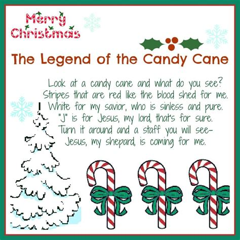 legend   candy cane  printable