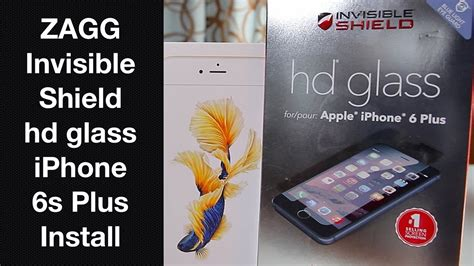 iphone 6s plus zagg invisibleshield hd glass install how