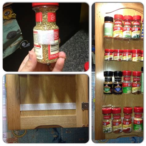 Make A Diy Spice Rack With Dollar General 187 Dollar Store Diy Spice Rack Just Add Velcro Practical Things Diy Spice Rack Home