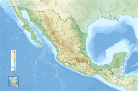 topographic map mexico meksiko