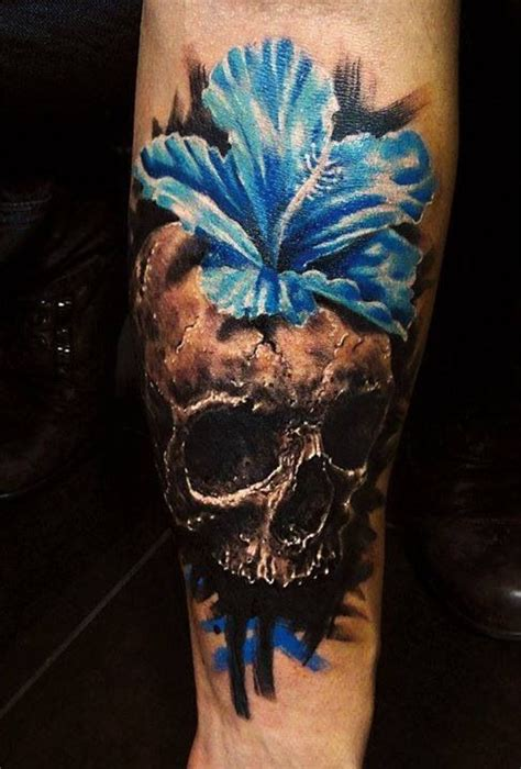 skull and flower tattoos 12 watercolor skull designs pretty designs