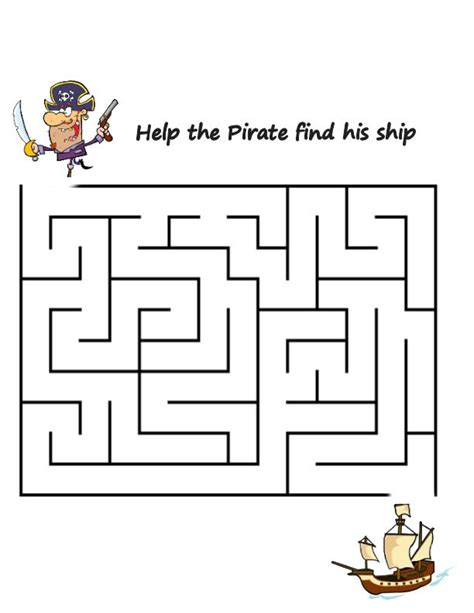 printable pirate maze magic tree house for history pirates past noon book 4