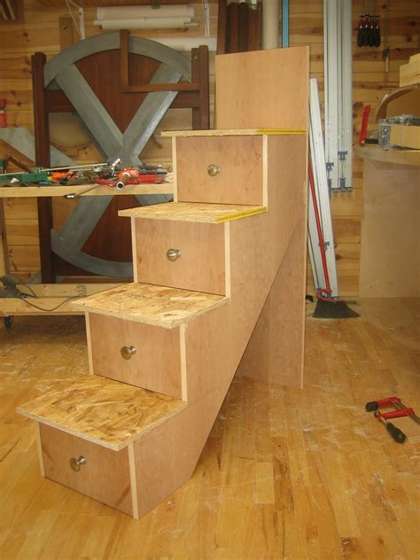 How To Build Your Own Bunk Beds Building The Stairs And Installation Spackle Sawdust