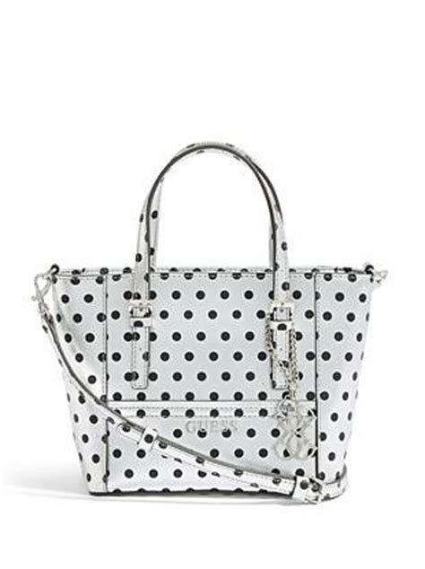 Tas Guess Polkadot delaney silver polka dot mini tote guess