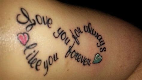 tattoo love forever i ll love you forever i ll like you for always as