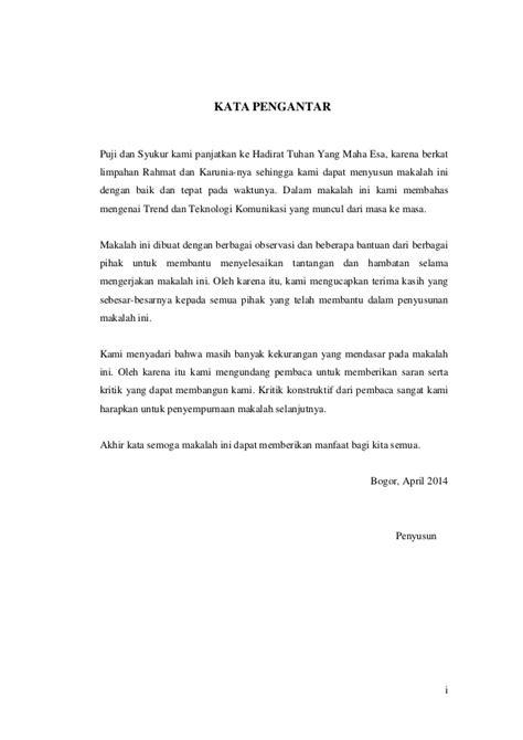 pembuatan kata pengantar dalam makalah contoh makalah sederhana yang baik dan benar bahasa