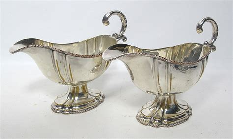 quirky gravy boat 2 antique classic french silver plate gravy sauce boat