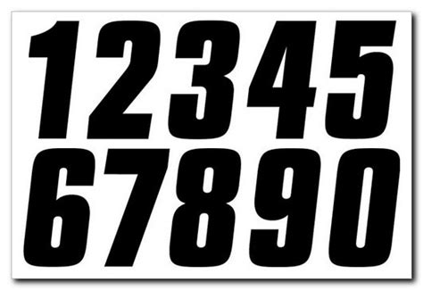 Number Stickers factory effex 4 inch factory number stickers ffx