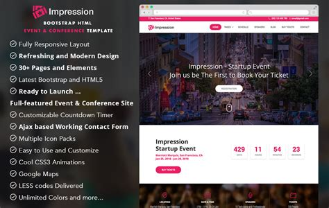 templates bootstrap events 30 best free bootstrap templates to download in 2018