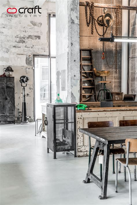Industrial Furniture Store by Craft Industry Store Real Photos Not 3d On Behance