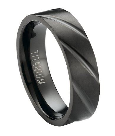 6mm s matte finished black titanium wedding band with