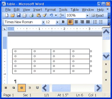 Table In Word microsoft word tables