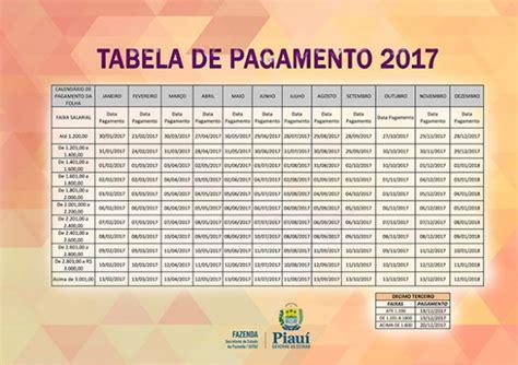 tabela do servidor federal para o ano de 2016 governo divulga tabela de pagamento para 2017 portal az