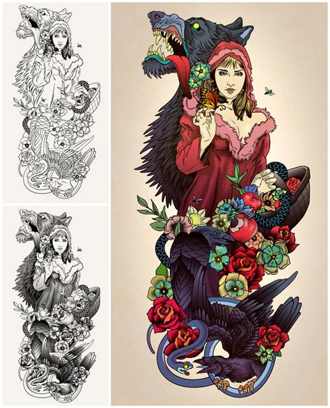little red riding hood tattoo by theirison on deviantart