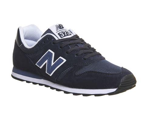 New Balance 373 Navy Putih new balance 373 navy blue unisex sports