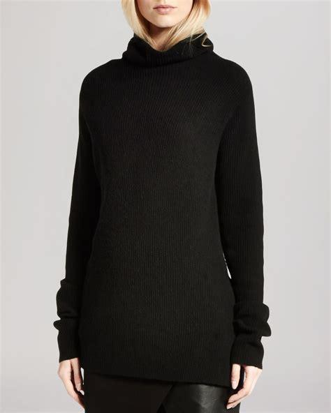 Sweater We Black lyst sweater turtleneck oversized in black