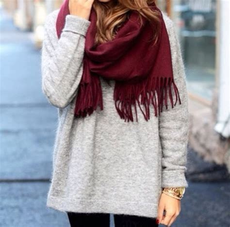 7 Scarf Styles For Fall by Sweater Grey Fall Fall Winter Sweater