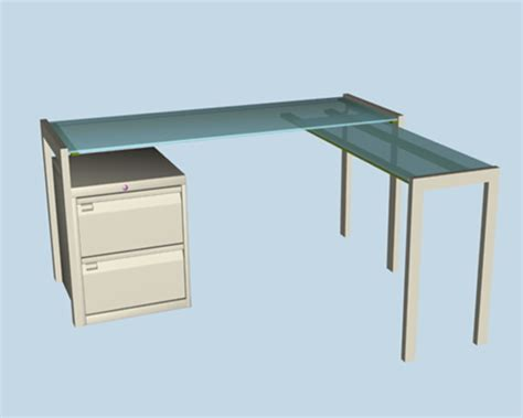 Frosted Glass Office Desk Frosted Glass L Shaped Office Desk 3d Model 3dsmax Files Free Modeling 17707 On Cadnav