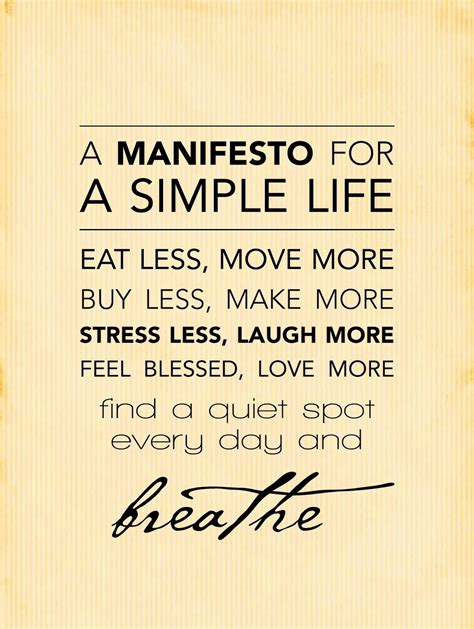 Simple Quotes Simple Manifesto Tribal Simplicity