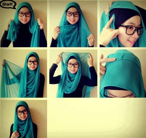 tutorial hijab turban 2 warna tutorial hijab segi empat wisuda 2 warna tutorial hijab