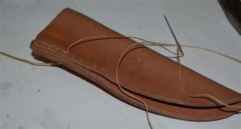 how to make a leather sheath for a knife how to make a pouch style leather knife sheath creative