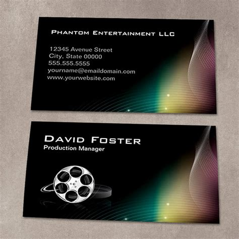 producer business card template production manager director producer cutter business card
