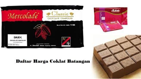 Harga Coklat Merk by Daftar Harga Coklat Batangan Terbaru Juli 2018