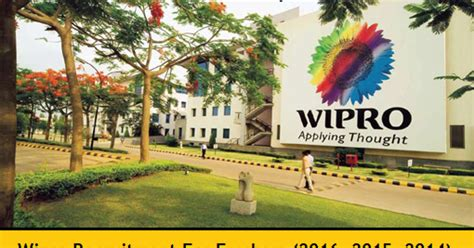 Wipro Mba Salary by Wipro Recruitment 2016 2017 For Freshers