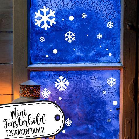 Fensterdeko Weihnachten Schneeflocken by Mini Fensterbild A6 Schneeflocken Punkte Fensterdeko