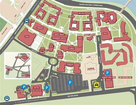 harvard map map harvard business school