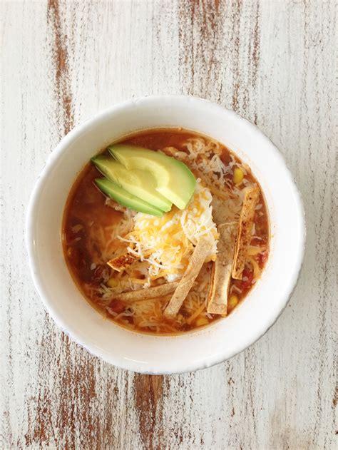 healthified crock pot chicken tortilla soup the skinny fork