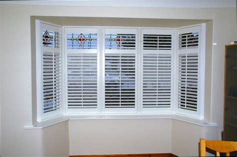 Window Treatments For A Bow Window bay window shutter images