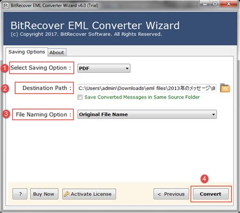 email format eml windows mail to adobe pdf free software screenshot
