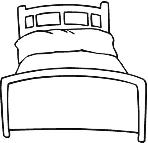 Bed Coloring Pages cat on a bed coloring pages