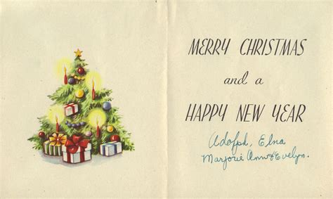 Noel Cards - vintage card with bells carla at home