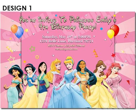 disney princess invites printable free printable birthday invitation disney princess